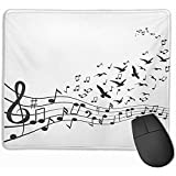 Gaming Mouse Pad, Mouse Mat Flying Varias Notas Musicales sobre Stave Bird Melody Harmony Song Aquawater Bright Choir
