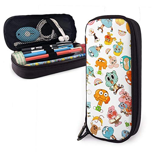 maichengxuan Animation The Amazing World Gumball Pencil Case Large Capacity Pen Pouch Kids Boys Girls Cute Pencils Bags with Zipper Adults Office Products Holder Box