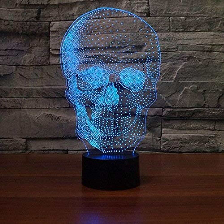 3D Nachtlicht Halloween-Geschenk-Lichter, Sculpt-Art, 3D führte Nachtlicht, Schlafzimmer-Nachttischlampe, Batteriefach USB-Note LED-Lichtquellen (Farbe   Rechargeable Battery)