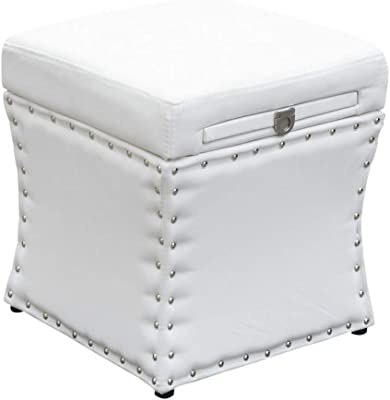 Fine Amazon Com Edeco Storage Ottoman Bench With Tray Square Creativecarmelina Interior Chair Design Creativecarmelinacom