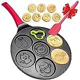 Pancake Griddle Pan - Pancake Pan Animal Pancake Griddle Pan Nonstick Pancake Maker for Kids, 6 inch handle