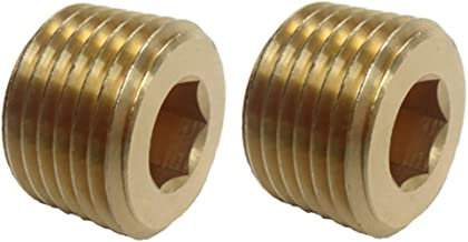 VE-FITS Pipe Plug Countersunk Brass Fittings (2 Pieces) (3/8