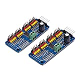 Songhe 16 Channel PWM Servo Motor Driver PCA9685 IIC Module 12-Bit for Arduino Robot or Raspberry pi (Pack of 2pcs)