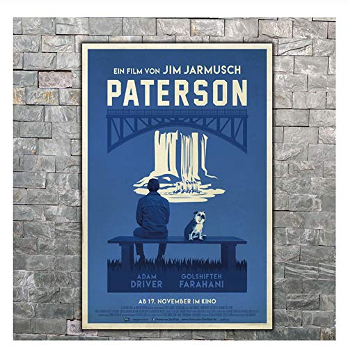 Suuyar Poster Paterson Film Jim Jarmusch Film Wand Leinwanddruck Moderne Malerei Home Deco Druck auf Leinwand-50x70cm ohne Rahmen