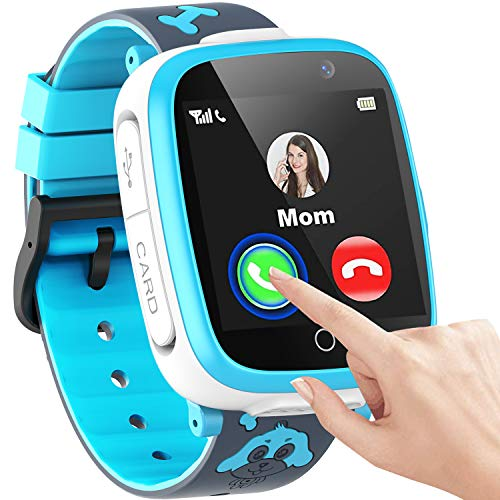 """Kids Smart Watch for Boys Girls, 1.54""""Touch Screen Smart Watch for Kids with Call SOS 2 Camera Games Video Music Player Calculator Calendar Alarm Clock, Children Smart Watch Gifts for Kids Age 3-12"""