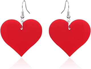Lureme Acrylic Heart Dangle Earrings for Women and Girls(er005558)