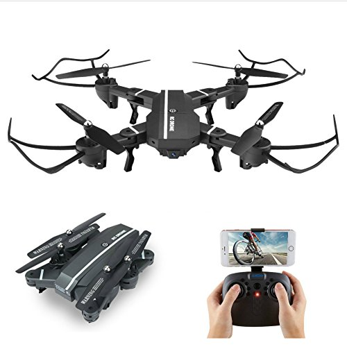 VISUO BEST WIFI FPV Drone with 720P HD 2MP 120° Wide Camera Foldable Flight 2.4G 6 Axis Gyro Altitude Hold & 1-Key Takeoff/Landing quadcopter
