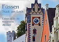 Fuessen - Stadt am Lech (Wandkalender 2022 DIN A2 quer): Fuessen liegt an der Romantischen Strasse und an der Via Claudia Augusta und wird ueberragt vom Hohen Schloss. Einen Einblick in die Altstadt moechte ich hier gewaehren. (Monatskalender, 14 Seiten )