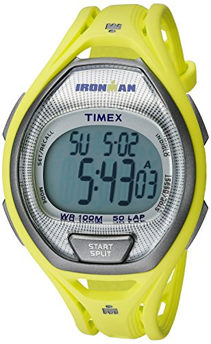 Timex Unisex TW5K96100 Ironman Sleek 50 Lime Full-Size Resin Strap Watch
