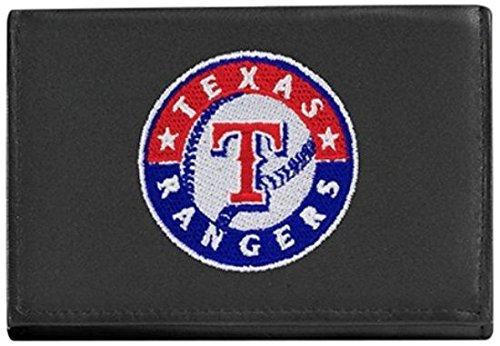MLB Texas Rangers Geldbörse aus echtem Rindsleder, dreifach faltbar