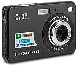 AbergBest 21 Megapixel 2,7'LCD wiederaufladbare HD Digitalkamera Digitale Videokamera Studentenkamera Indoor Outdoor für Erwachsene/Senioren/Kinder (Schwarz)