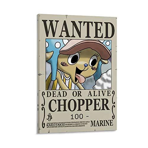 Poster mural One Piece Avis de Recherche Chopper 30 x 45 cm