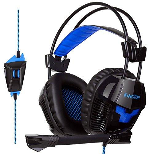 ゲーミングヘッドセット KINGTOP ヘッドホン K11シリーズ 3.5mm コネクタ 高集音性マイク付 マイク位置360...