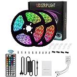 Galapar 2 x 5m Luces de Tira LED RGB 5050, 300 Leds Tiras LED de Luces Kit con Control Remoto,Impermeable IP65,Adaptador de Alimentación 12V 5A,Luces Led Decoracion para el Hogar,Cocina,Navidad