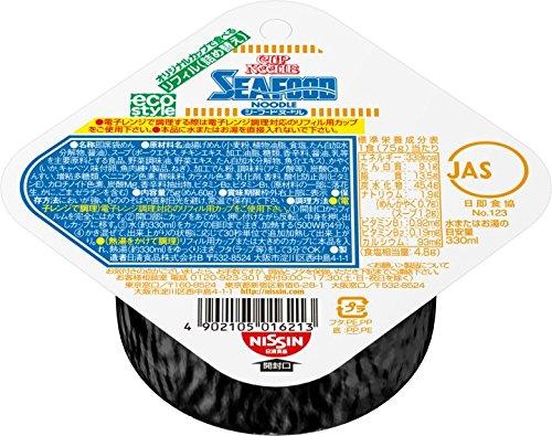 スマートマットライト 日清食品 カップヌードル シーフードヌードル リフィル (詰め替え用) 75g×8個