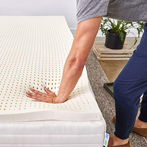Pure Green 100% Natural Latex Mattress Topper - Soft - 2 Inch - King Size