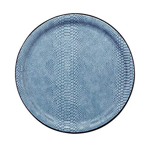 PLATEX 90036827 Plateau Plastique-Dragon, Bleu Clair, 36cm