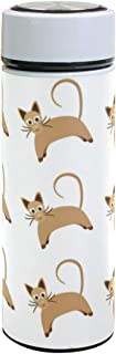 Thermos Cat Pattern 17.5 OZ Stainless Steel and Vacuum Insulated Water Bottle
