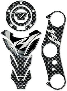 Carbone Blanc Kit Autocollant Stickers R/ésine Gel 3D Compatible avec Yamaha YZF R1 2007-2008