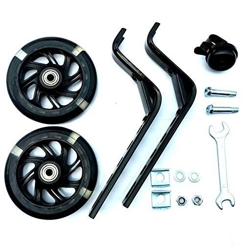 YTRGED Accesorios de cochecito universal 12 '-20' rueda auxiliar equilibrio rueda auxiliar silencio PVC intermitente rueda auxiliar para niños montar