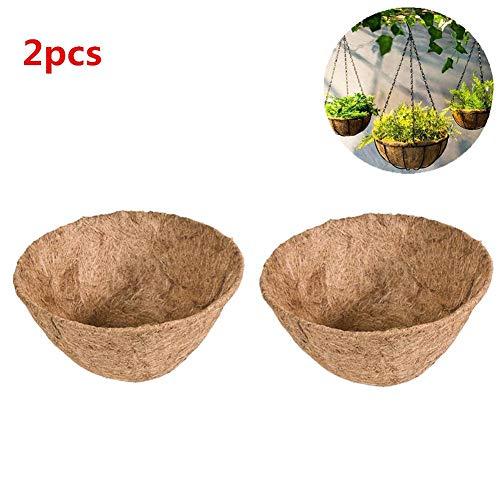 2 Stück Kokoseinsatz für Blumenampeln, natürliche Coco Faser Liner Kokosmatten Ersatz für Pflanzgefäß, Pflanzentopf Hängekorb