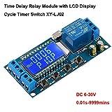 Relè temporizzatore, modulo relè USB 12V 5V Scheda controller delay 6-30V Interruttore di controllo del timer del ciclo di spegnimento ritardato con display LCD Supporto Alimentazione Micro USB 5V