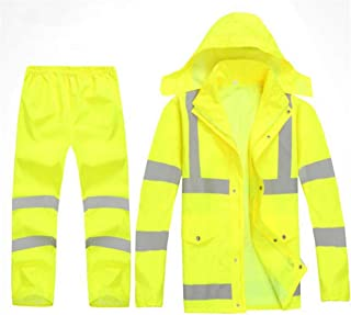 BGROESTWB Snow Rainwear Split Suit Raincoat Rain Pants Outdoor Safety Reflective Suit Waterproof Rainproof Jacket Multifun...