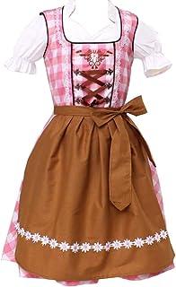 Kiddy Tracht Trachtenkleid 3tlg. Kinder Dirndl Mädchen Kleid Gr. 104,116,128,140,146,152