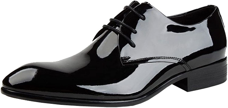 Jsex Real läder Business Män's Män's Män's Dress Formal skor Lace Up Oxford  het försäljning online