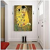 A&D Gustav Klimt Kuss Berühmte Leinwand Gemälde