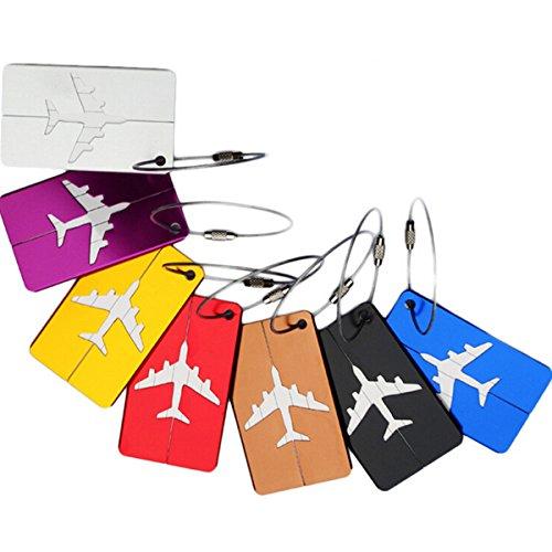 Pixnor Aluminium-Legierung Reiseausweis Bag Tag Tag Visitenkarte Inhaber Gepäck Handtasche Kofferanhänger in 7 Farben