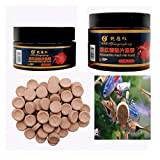 Demoyu Fish Food Tablet Astacin Shrimp Aquarium Feating Fish Tank Tropical Bagfish Pill Forage forraje 60 g / 120 g (Color : Red, Size : 60gX2)