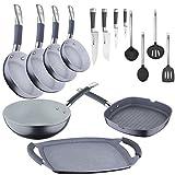 San Ignacio - Bateria de cocina profesional: sartenes profesionales, wok y parrillas, cuchillos , utensilios