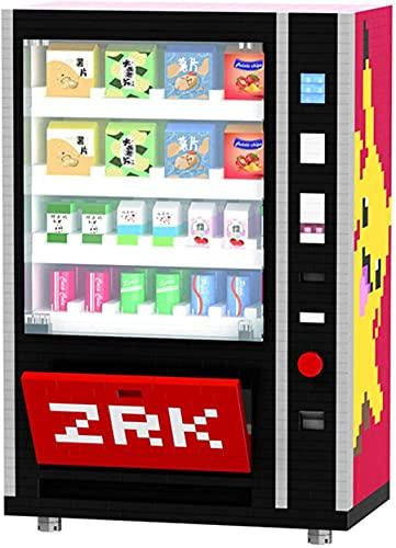 Máquina Expendedora Bloques De Construcción Ladrillos Accesorios De La Ciudad Beber Alimentos Kits De Caja De Alimentos Establecer Juguetes De Bricolaje para Niños (2560Pcs)
