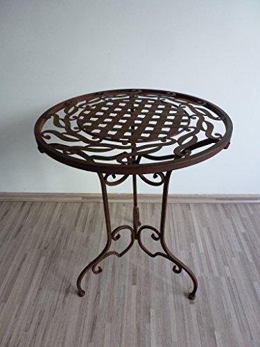 Ziegler Metalltisch Beistelltisch Blumenhocker Klapptisch Tisch Metall Eisen rund WK071291