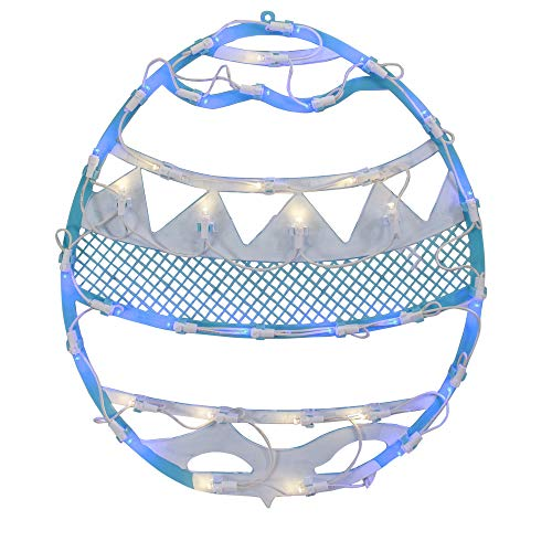Northlight 17' LED Lighted Blue Easter Egg Spring Window Silhouette Decoration