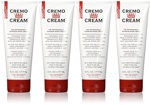 Cremo Astonishingly Superior Shave Cream, 6 Fluid Ounce (Pack of 4 (6 fl oz ea)) by Cremo