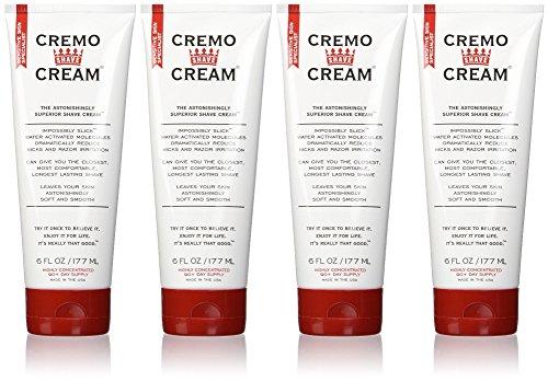 Cremo Original Shave Cream, Astonishingly Superior Shaving Cream for Men, 6 Fluid Ounce (4 Pack)