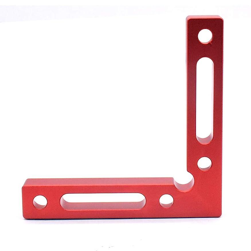 戦略消去解釈的L形直角定規 直角 コーナー クランプ 90度 木工用 木材 圧着 接着 溶接 DIY工具 120×120×16mm (1)