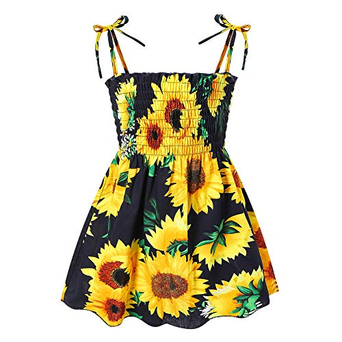Toddler Baby Girl Dresses Casual Sleeveless Straps Cute Floral Princess Sundress Summer Clothes Outfits 12M-5T