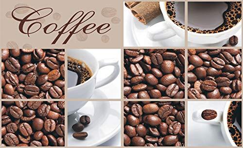 Forwall Fototapete Vlies Wanddeko Kaffeebohnen Braun – Café Kaffee Kaffeetasse Wanddekoration 114VEP 250cm x 104cm
