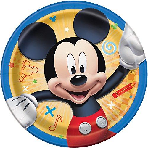 "Disney Mickey Roadster Round 7"" Dessert Plates, 8ct"