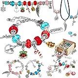 Fengzio Geschenke für Mädchen 5-13 Jahre - Kinder Armbänder Selber Machen, Geschenke für Weihnachten, Geburtstag, Muttertag - Adventskalender Schmuck Mädchen Bastelset enthält 62 Stück für Kinder
