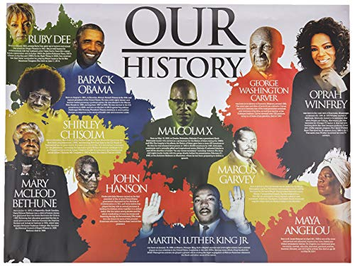 "Tri-Seven Entertainment Our Black History Poster African American Famous People with Short Biography, 24"" x 18"""