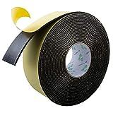 High Density Foam Insulation Tape Adhesive Rubber Strip, Seal, Door Insulation Foam Tape Weatherstrip, Waterproof, HVAC, Pipes, Foam Strips Air Conditioning, Weather Stripping Foam(33Ft x 1/8'' x 2'')