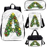 Juego de bolsas escolares para niños de 15 pulgadas, set de mochilas 4 en 1 de invierno