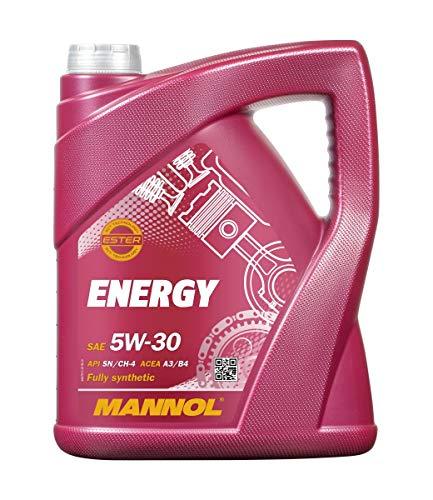 Mannol MN7511-5 Aceite de Motor Energy 5W de 30API SL/CF motorenöl, 5l