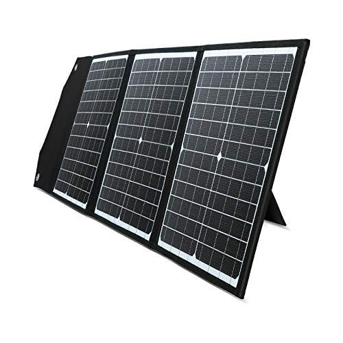 PAXCESS ソーラーパネル 60W ソーラーチャージャー QC3.0 Type-C 急速充電 23%高変換効率 折りたたみ式 ス...