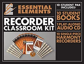 Essential Elements for Recorder Classroom Kit: Includes 1 Student Book with Play-Along CD, 9 Student Books, and 10 Recorders