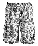 Kanu Surf Men's Miles Swim Trunks (Regular & Extended Sizes), Dominica Charcoal, X-Large